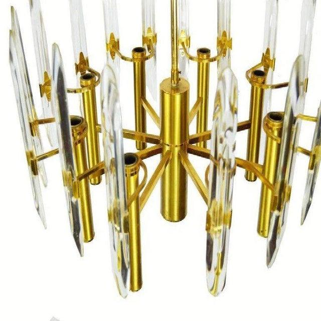 Modern 1970s Gaetano Sciolari 8 Light Chandelier For Sale - Image 3 of 6
