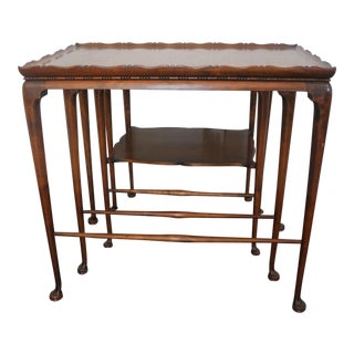 19th Century English Nesting Tables - Set of 3 For Sale