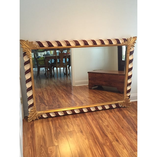 French Harrison and Gil Hand Carved Dauphine Mirror For Sale - Image 3 of 7