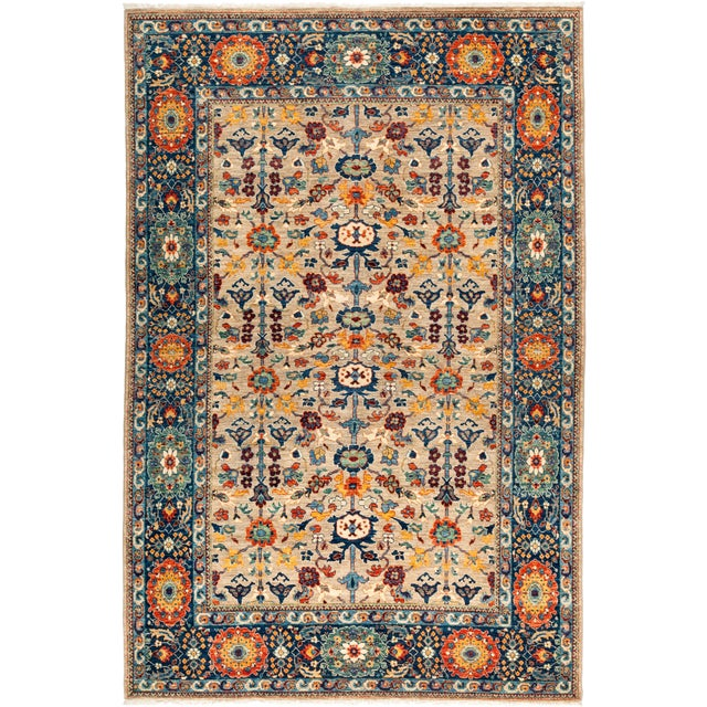 """Ziegler Hand Knotted Area Rug - 6' 2"""" X 9' 2"""" - Image 4 of 4"""