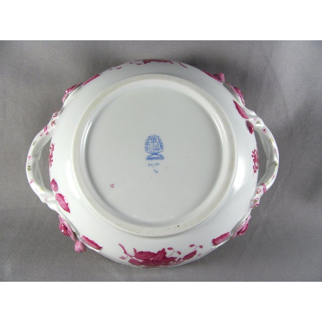 White Herend Chinese Bouquet Raspberry Bean Pot Tureen With Lemon Finial For Sale - Image 8 of 10