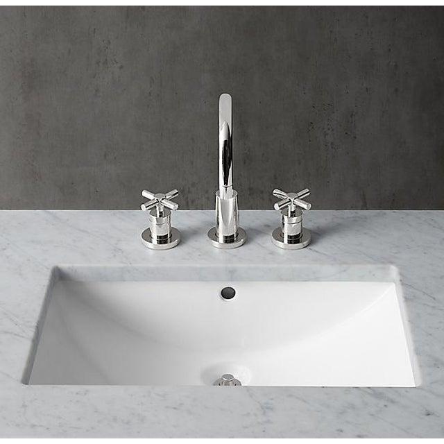 2010s Restoration Hardware Hudson Metal Single Washstand Bathroom Sink Vanity For Sale - Image 5 of 9