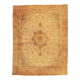 Vintage Persian Tabriz Rug With Rustic Tuscan Style - 09'08 X 12'07 For Sale