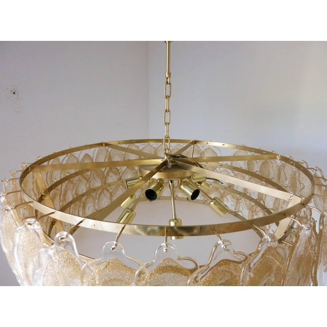 Mazzega Murano Gold Cloud Chandelier by Mazzega For Sale - Image 4 of 7