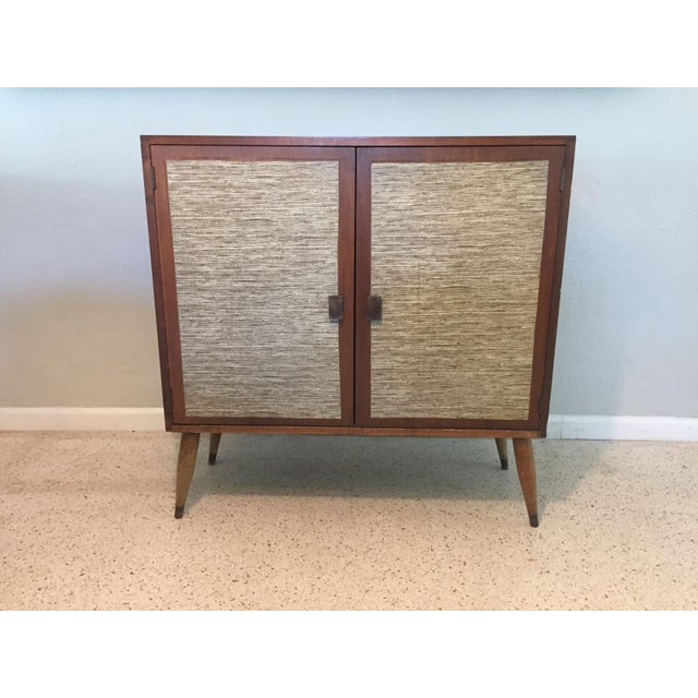 Mid-Century Cabinet with Woven Doors - Image 8 of 9
