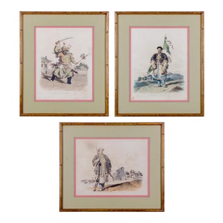 Costume of China Engravings - Set of 3 For Sale