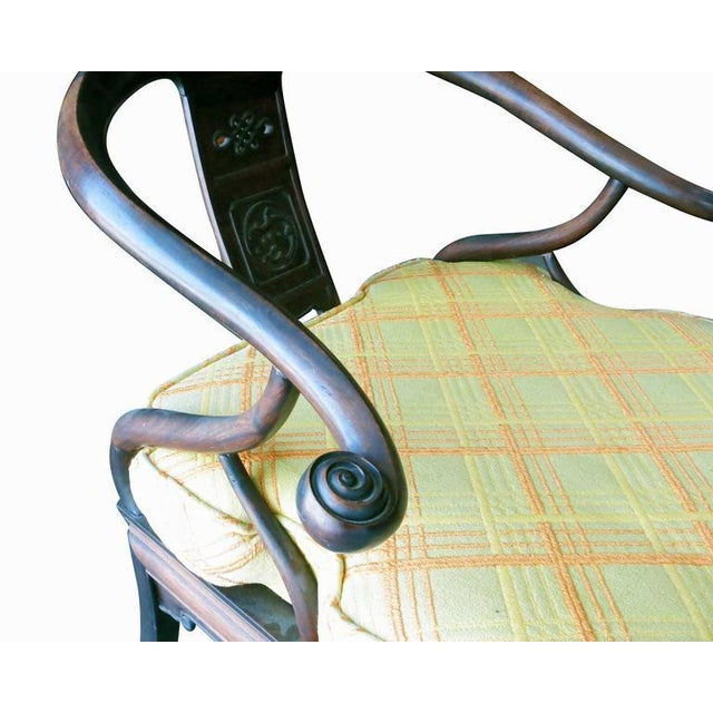 James Mont Style Horseshoe Lounge Chairs, Pair - Image 9 of 10