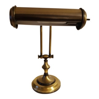 Early 20th Century Antique Brass Gilbert Piano Lamp For Sale