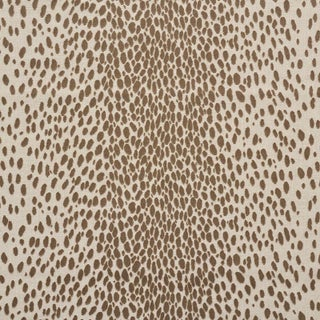 Schumacher Cheetah Velvet Fabric in Natural Preview