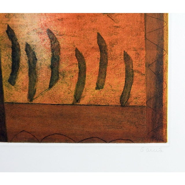 Contemporary Abstract Etching on Paper by Garcia For Sale - Image 3 of 5