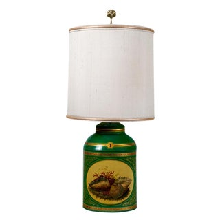 Early 20th Century Apple Green Tea Canister Lamp #1 For Sale