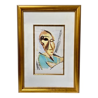 """Pablo Picasso Vintage 1907 Lithograph """"Head of the Medical Student"""" For Sale"""