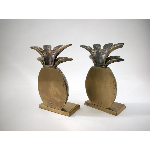 Brass Pineapple Bookends - A Pair - Image 6 of 8