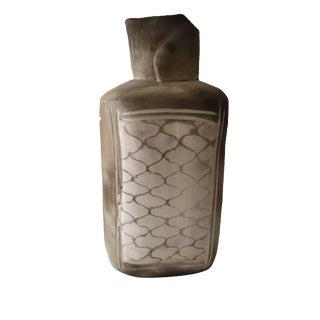 Gray Abstract Clay Vase