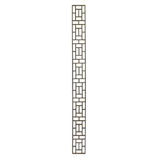 Narrow Long Rectangular Plain Wood Geometric Pattern Wall Panel For Sale