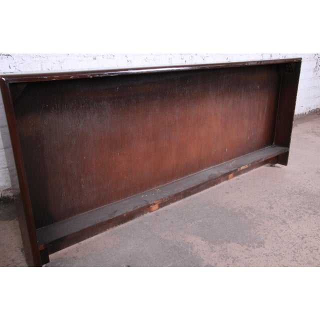 Milo Baughman for Thayer Coggin Burled Maple Queen Size Headboard For Sale In South Bend - Image 6 of 8