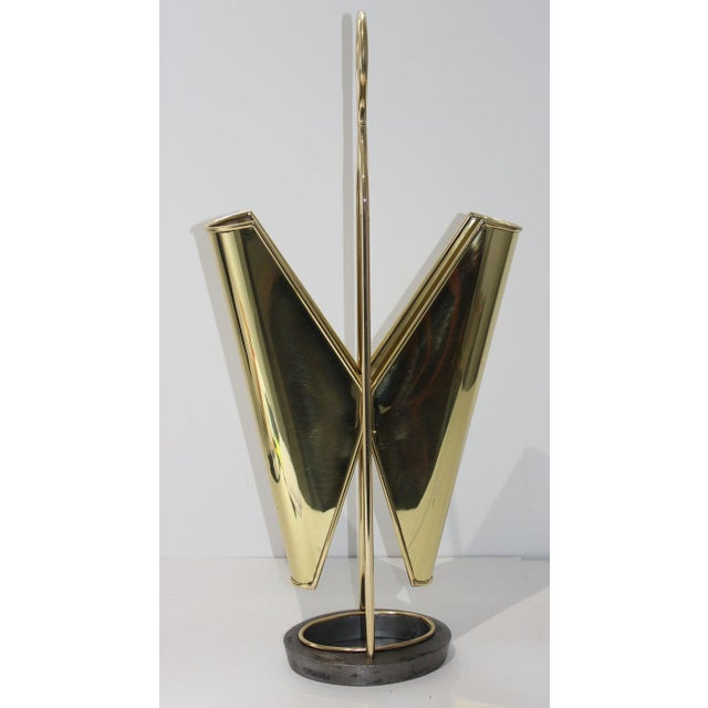 Metal Mid-Century Modern Mathieu Mategot Style Umbrella Stand For Sale - Image 7 of 13
