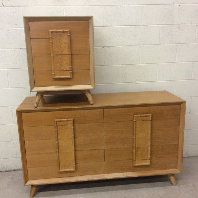 Faux Bamboo Dresser & Nighstand For Sale - Image 13 of 13