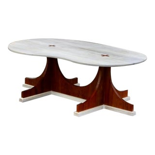 Vintage Modern Studio Craft Wooden Coffee Table For Sale