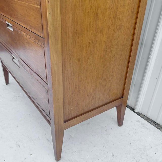 Mid-Century Highboy Dresser From Basic-Witz For Sale - Image 12 of 13