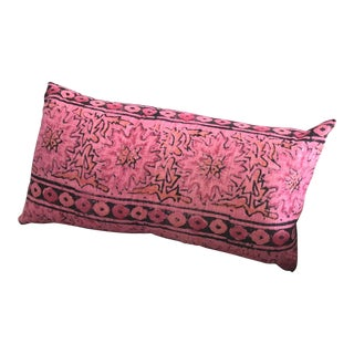 Boho Chic House of Cindy Vintage Dark Pink Pillow For Sale