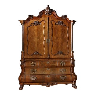 19th Century Dutch Walnut Armoire For Sale