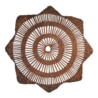 Vintage Mid Century Rattan Star Wall Decoration For Sale