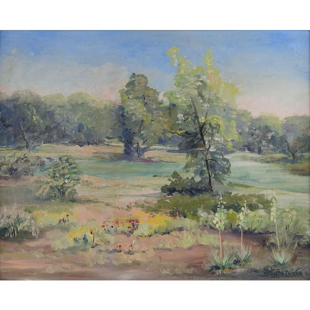 Texas Landscape Painting by Santa Duran For Sale - Image 4 of 4