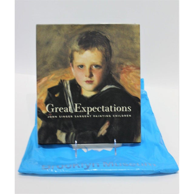 """Great Expectations"" John Singer Sargent Brooklyn Museum Book and Signature Blue Museum Printed Bag For Sale - Image 11 of 12"