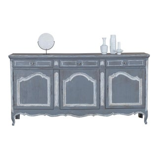 Antique French Louis XV Style Painted Oak Buffet circa 1875