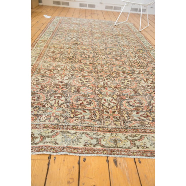 "Cotton Vintage Distressed Mahal Carpet - 5'5"" X 10' For Sale - Image 7 of 13"