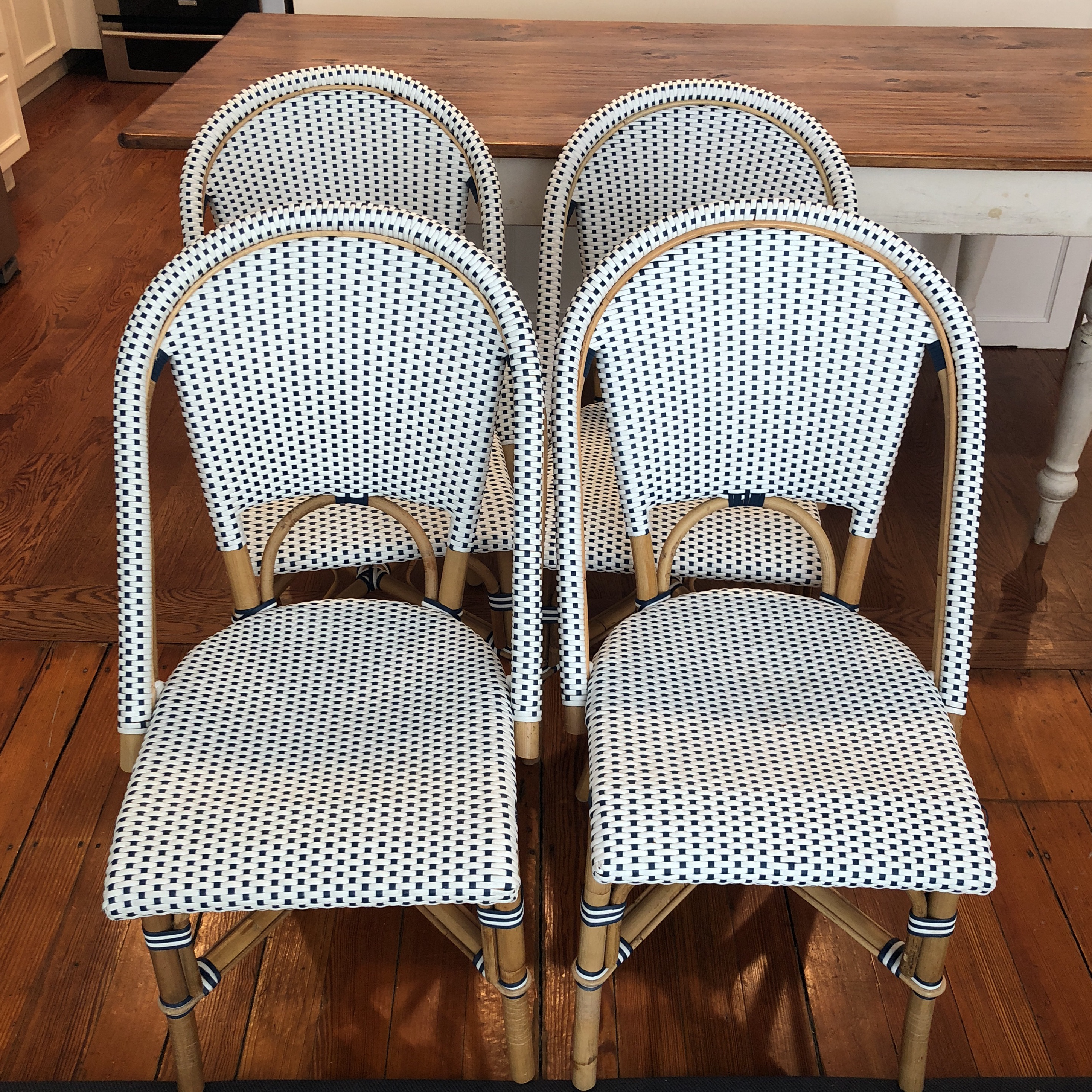 Set Of Four Serena And Lilly Riviera Chairs. Sold All Together. Excellent  Condition.