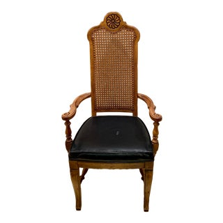 Thomasville Cane Back Armchair For Sale