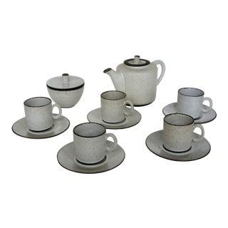 1960s Vintage Mid-Century Modern Zaalberg Holland Design Art Pottery Tea Set - 12 Piece Set For Sale