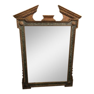 Broken Pediment Wall Mirror For Sale