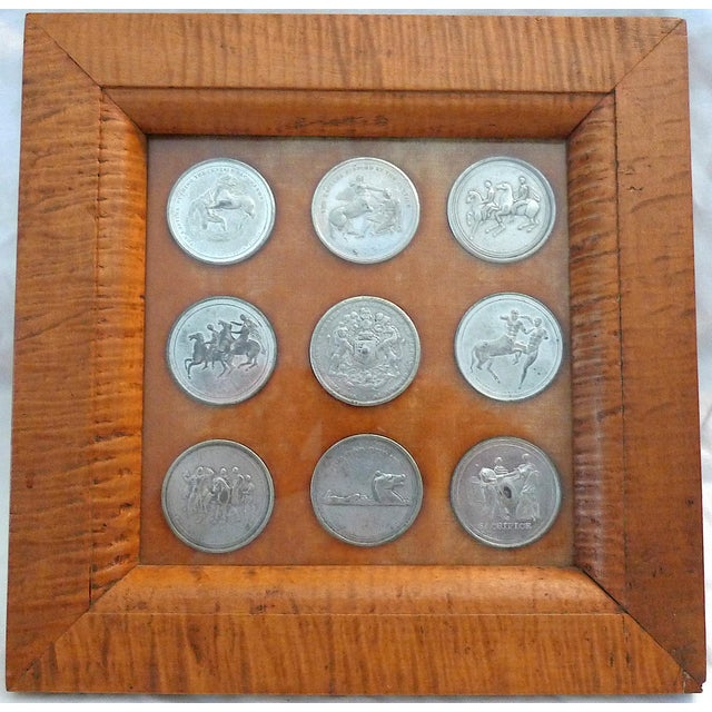 Early 19th Century Elgin Marbles Medals by Edward Thomason - 9 Medals in Frame For Sale - Image 10 of 10