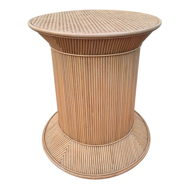 Split Reed Bamboo Rattan Dining Table Base in Crespi Style For Sale