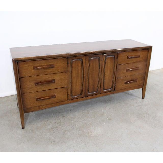Mid-Century Modern Mid-Century Danish Modern Broyhill Emphasis Walnut Credenza Dresser For Sale - Image 3 of 13