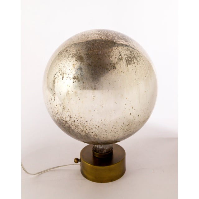 Mercury Glass Sphere Table Lamp For Sale In San Francisco - Image 6 of 13
