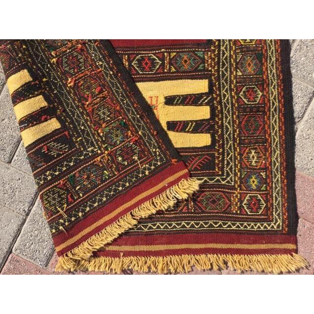 Vintage Turkish Kilim Rug For Sale - Image 5 of 5
