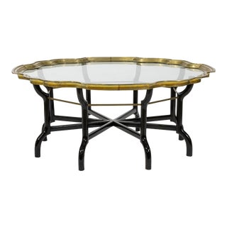 1970s Hollywood Regency Tray Top Coffee Table For Sale