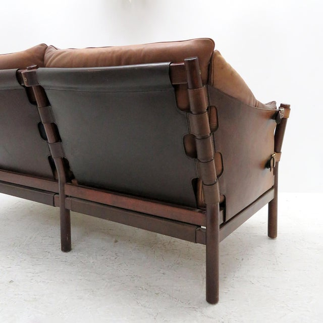 1960's Vintage 'Ilona' by Arne Norell Leather Settee For Sale - Image 11 of 13