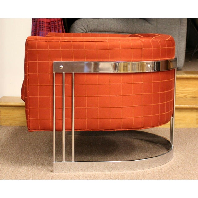 Mid Century Modern Flair Chrome Wrapped Lounge ChairsBaughman Era - a Pair For Sale In Detroit - Image 6 of 12