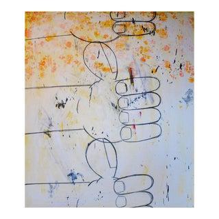 """Eric Stefanski """"Orange Flowers"""" Modern Painting For Sale"""