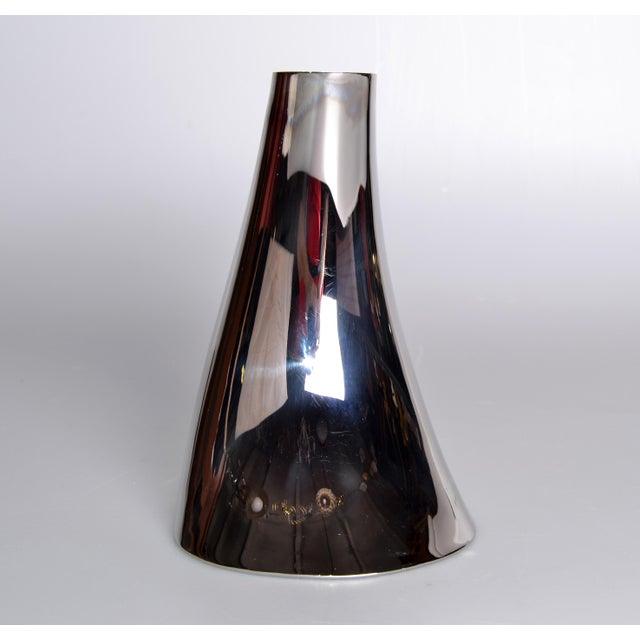 High End Georg Jensen Cobra Vase Stainless Steel Decaso