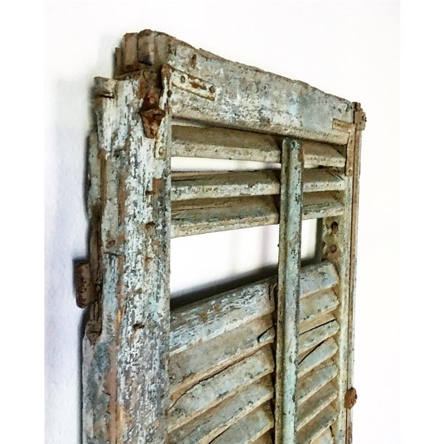 Early American Antique 1800's Primitive Shutter For Sale - Image 3 of 6