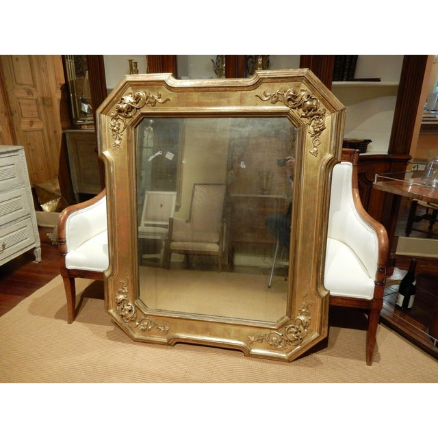 Gold Early 19th Century Italian Gold Gilt Mirror For Sale - Image 8 of 9