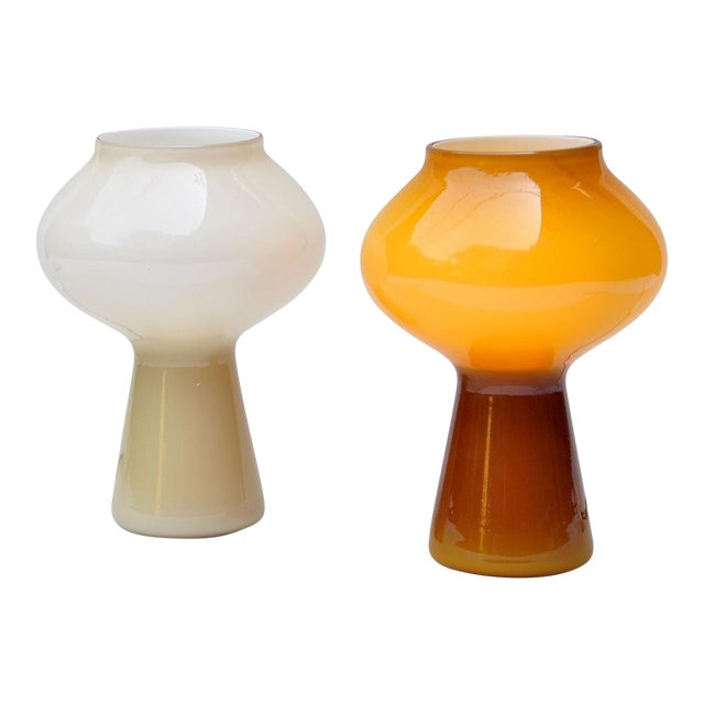 """Pair of """"Fungo"""" Table Lamp by Massimo Vignelli for Venini, 1950s For Sale"""