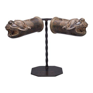 Indian Mythological Bronze Palanquin Finials
