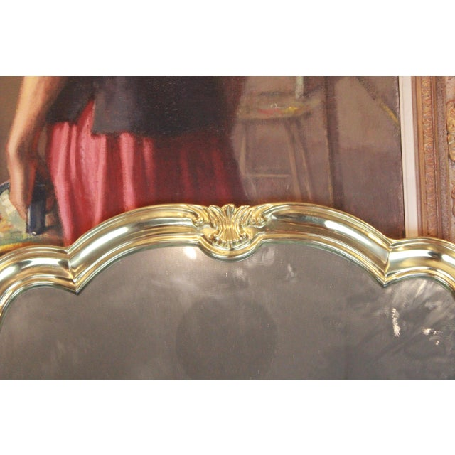 Italian Brass Wall Mirror For Sale - Image 9 of 13